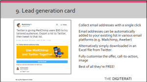 Twitter lead gen card